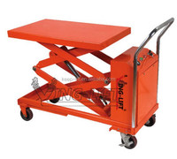 Mobile Double Scissors Electric Lift Table