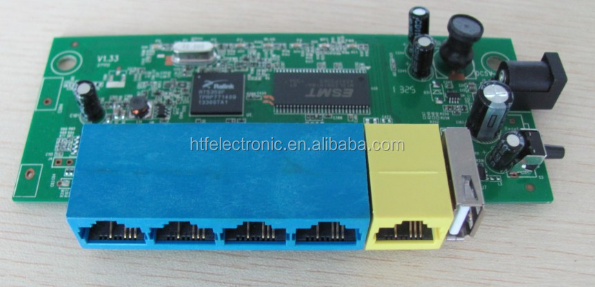 Customized1 wan +4 lan ports 150Mbps tp-link wireless Router PCB module