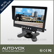 7 inch Truck tft lcd car monitor with 2 video inputs