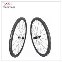 Drop Shipping Chinese carbon wheels 38mm x 23mm tubular, Far sports carbon fiber wheelset with DT 350s HUB