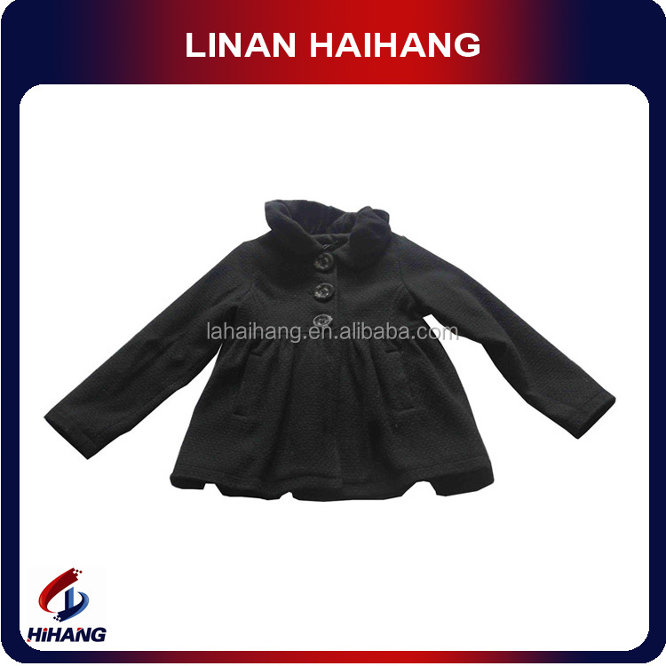 Lapel cute baby all black clothing
