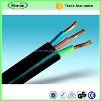 Bare cooper 3 core electrical channel pvc insulated cable