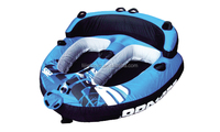 Double inflatable snow sled / water tub / towable sled