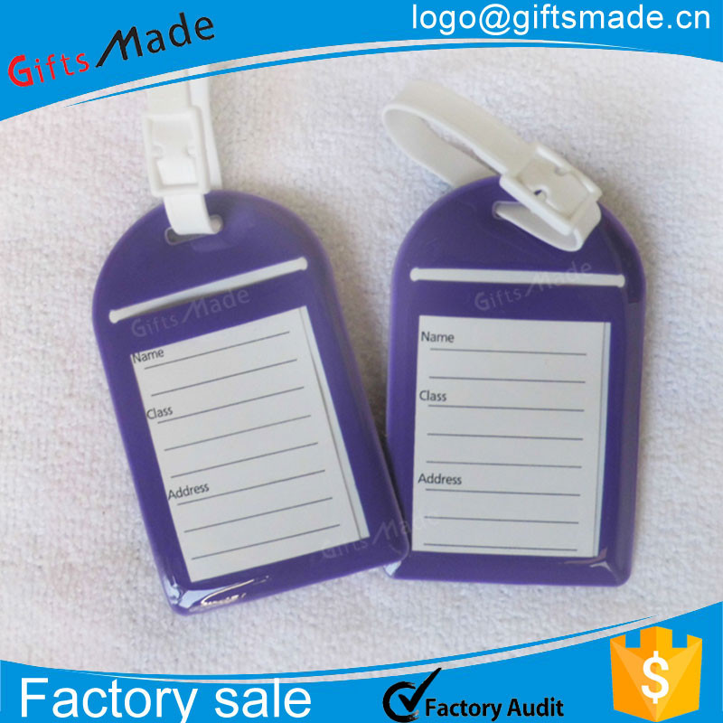 Business Card Size Luggage Tag Luggage Belt With Name Tag