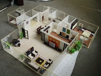 House Plan Internal Layout Model With All Furniture ,scale Model House