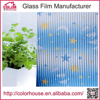 self-adhesive decorative kids room window film on alibaba