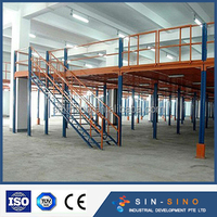 China professional metal steel supported warehouse mezzanine floor and platform racking system