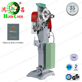 Automatic twin luggage casters foot-operated riveting machine