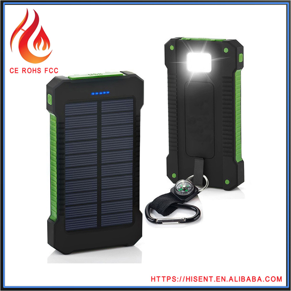 15000mah 30000mah Top 10 android solar charger case with flashlight