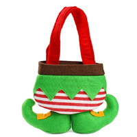 Chrismas Holiday decorated goodie bags cute elves shape candy bags