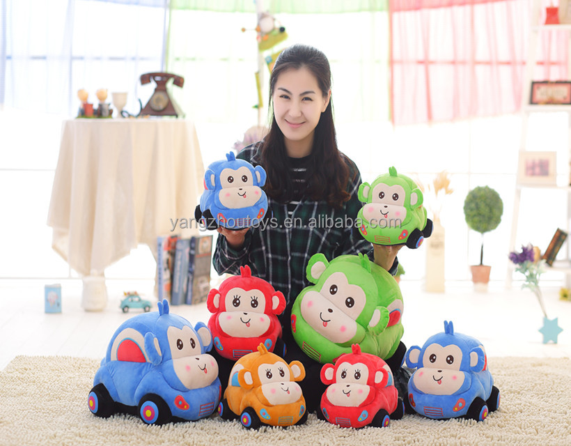 china factory manufacturer plush <strong>monkey</strong> car toy
