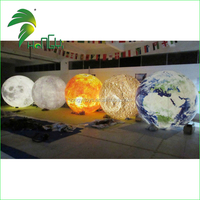 Latest Fashionable Design Charming Lighted Inflating Decorate Planet Balloon