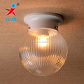 SALE PRESSED TRANSPARENT GLASS BALL LAMPSHADE / CLEAR GLASS CEILING LIGHT COVER