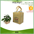 custom non woven 6 packed bottles Wine tote Bag Outside pocket without closure alibaba trade assurance
