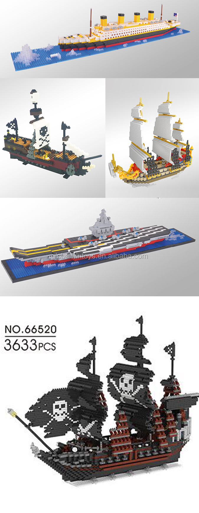 WLtoys building block ships collection for kids educational toys .jpg