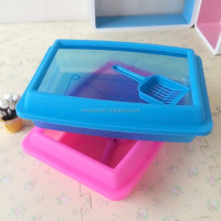 Direct factory stylish design cat training toilet pet product dog cage toilet crate with shovel