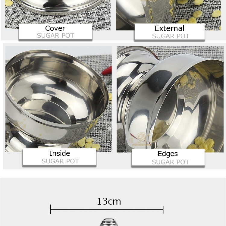 stainless steel sugar pot FT-02710-B