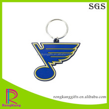 2017 hot selling promotional gifts musical notation shaped 2d pvc keychains