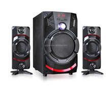 new design bluetooth 2.1 home theater bass speaker with fm radio stereo sound system 3in1