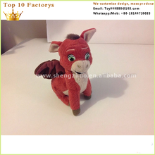 New personalized manufacturing stuffed baby red plush toy donkey