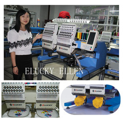 2016 new type home use 2 heads 15 colors computer embroidery machine