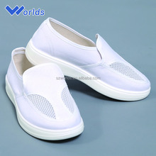 Have two mesh breathable convas ESD cleanroom safety shoes women
