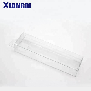 High Quality Eco-friendly plastic gift transparent hanger folding clear PET box clear PVC box Packaging boxes