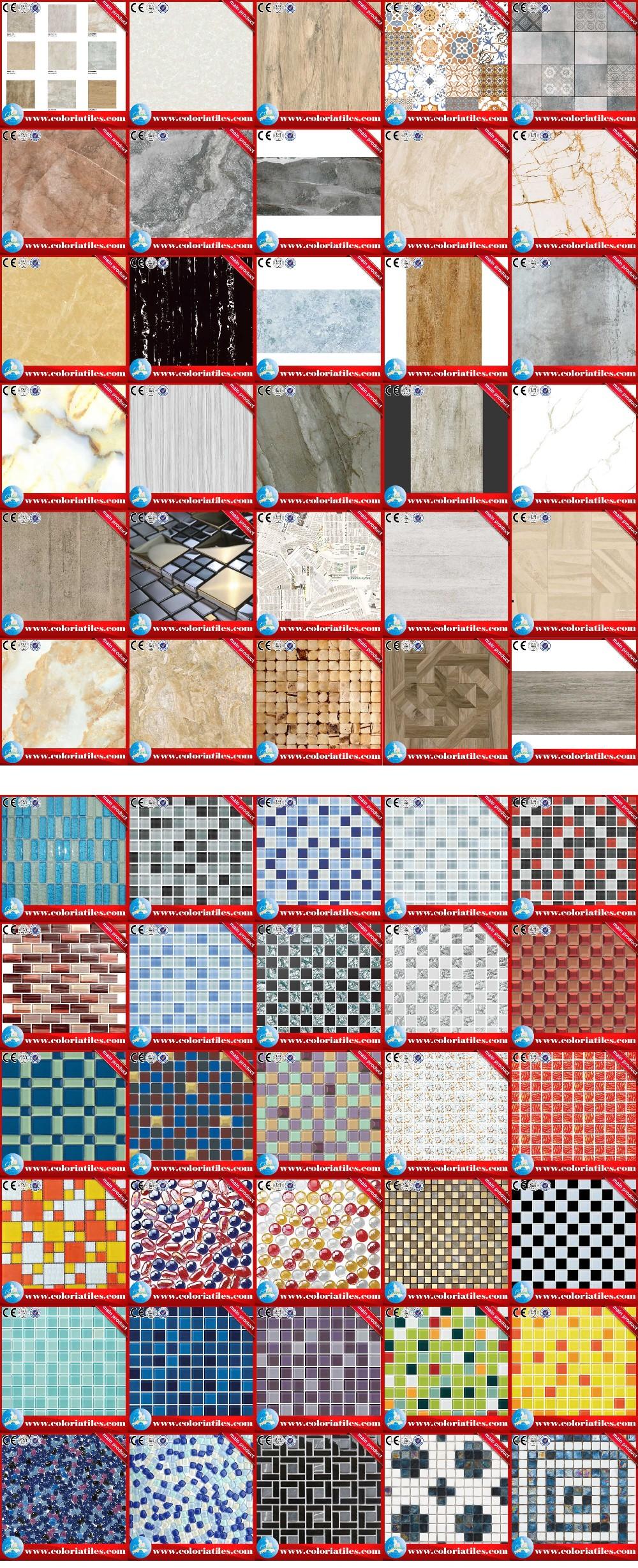 China refinado Paris imagem textura rústica telha lustrada da porcelana