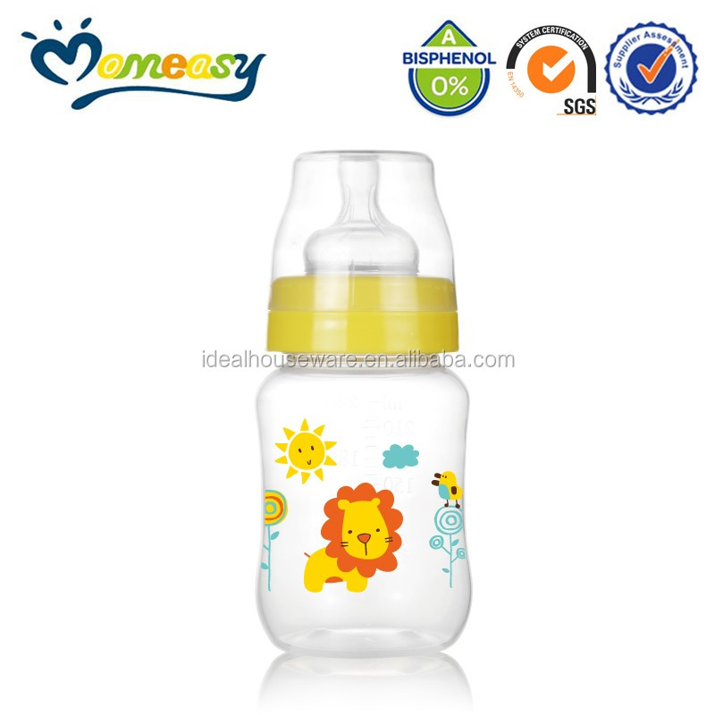 BPA free 8oz Wide-neck PP baby bottle giant baby bottle