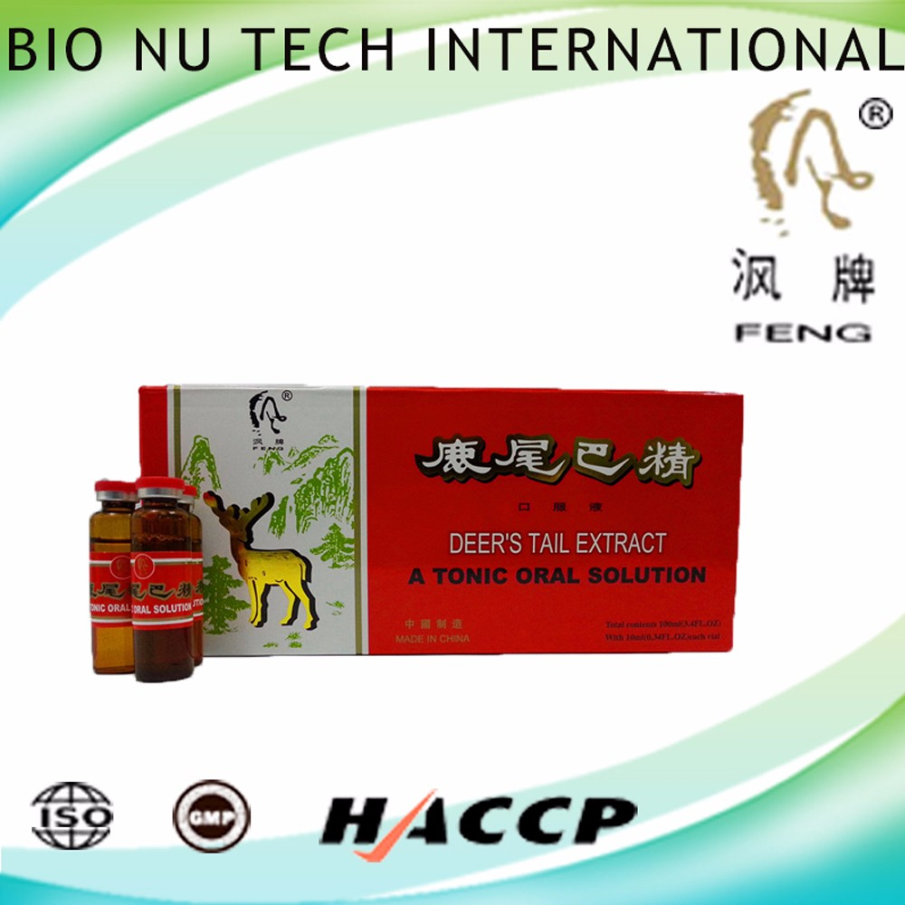 Honey Deer's tail extract oral liquid with function of the body