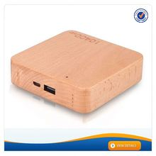 AWC911 High Capacity Wooded Design Best Quality 10400mAh mobile power pack