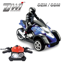DWI 1:10 Scale 2.4G G-sensor Stimulation Throttle and Brake Radio Control Motorcycle With Lights