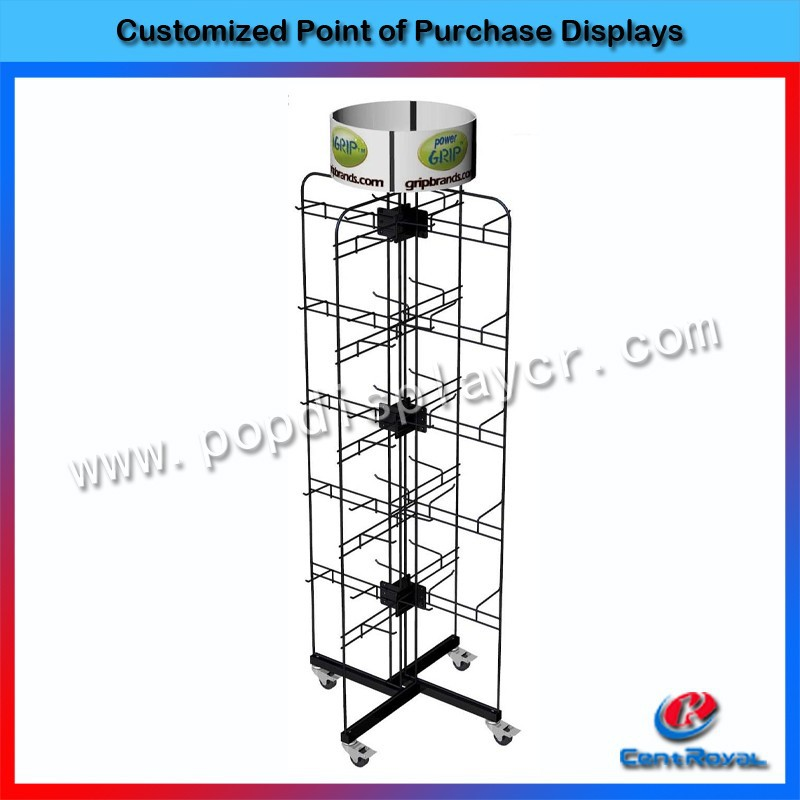 custom counter metal mobile phone accessory display stand