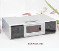 factory supply mini FM radio alarm clock with temperature