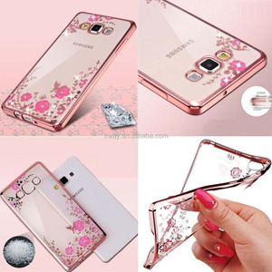 Floral Silicone Cases for Samsung Galaxy Note 8 S8 S7 S6 edge S3 S4 S5 Case Samsung Galaxy A3 A5 A7 2017 J1 J5 J3 2016 2017 Case