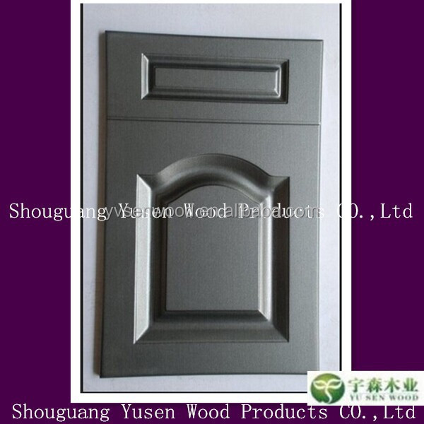 Vinyl Kitchen Cabinet Doors: Wrap Doors & Bronze Grey Vinyl Door Wrap Refrigerator Wrap