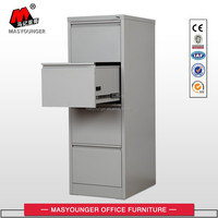 100% open 4 drawer vertical filing cabinet