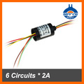 Electrical industrial of Mini slip ring with 6 wires of capsule slip ring without flange