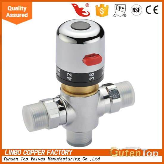 Brass Thermostatic Mixing Valve, Temperature Control for Bath & Shower Faucets