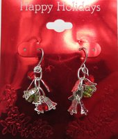 Fashionable Christmas Holiday Relevant Woman Jewelry Drop Earrings