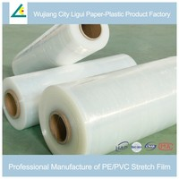 Flexible self-adhesive blow molding plastic wrapping film