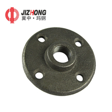 Standard round malleable iron pipe fitting flange with 4 bolt hole