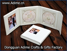 Wedding CD/DVD Cases Leather CD/DVD Cases,dvd presentation boxes