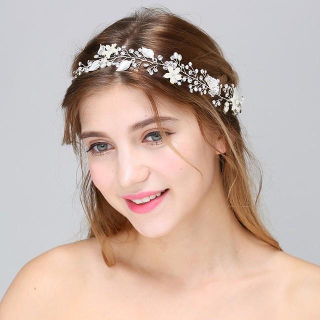 Elegant Bridal Headband Fashion Hair Jewelry Crystal Wedding Headpiece Hairwear Accessories for Women