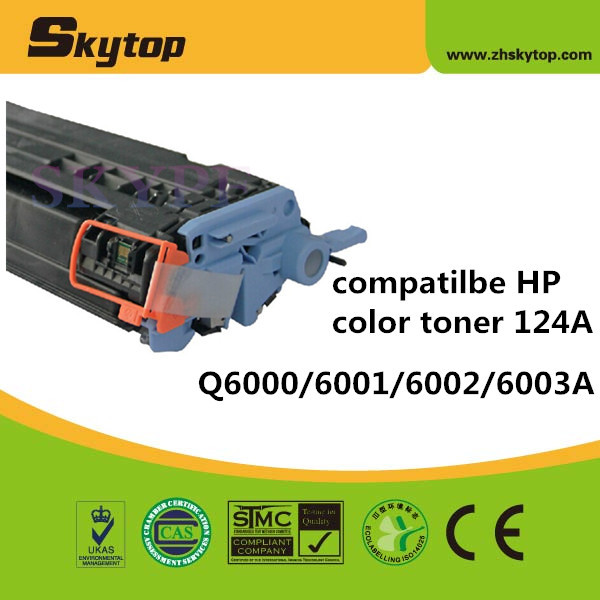 Chinese supplier Skytop Compatible new toner cartridge 124Afor HP Q6002A magenta print toner laserjet cartridge