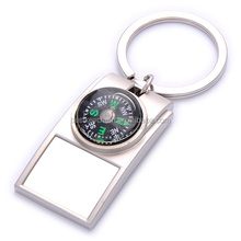 promotional metal compass keychain custom design