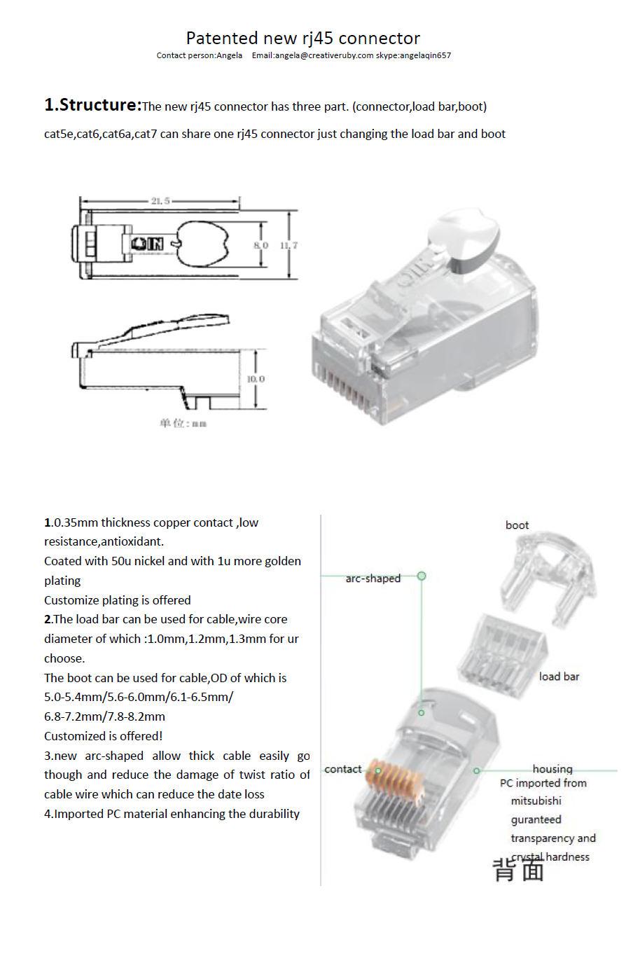 High Speed Wire Connector Cat5 Cat6 Cat7 Rj45 Jack Plug Wiring Diagram On Pc To Utp Our Services 1 Year Warranty 2 Return Policy Is Exchange Only Buyer Must Pay Shipping Fee For Item