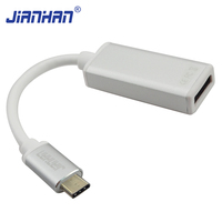 USB-C Type C USB 3.1 Male to DisplayPort (DP) Adapter Cable Aluminium Case USB-C to DP Female for New Macbook ChromeBook Pixel