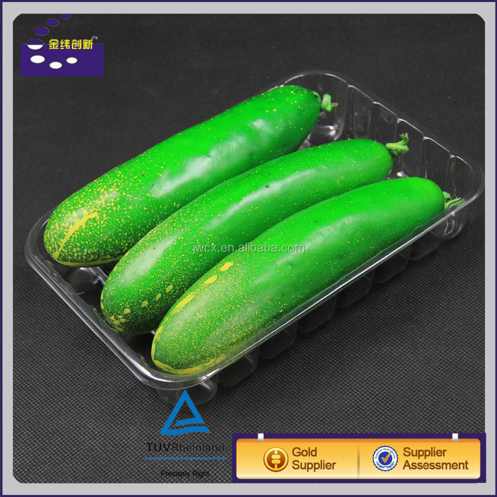 White Disposable Plastic Fruit And Vegetable Container