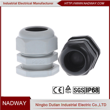IP68 waterproof plastic PG16 M22*1.5 pvc cable gland size